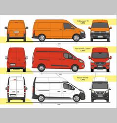 Set cargo vans l2h2 2015 vector