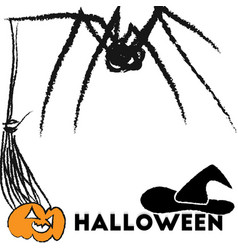 set of elements for Halloween vector image