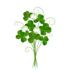 shamrock or clover emblem of ireland and st vector image