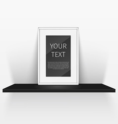 shelf and blank poster vector image