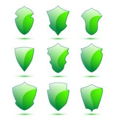 Shield set vector image