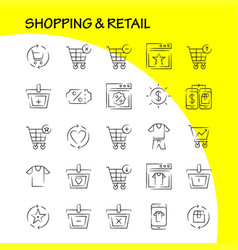 shopping hand drawn icon pack for designers and vector image