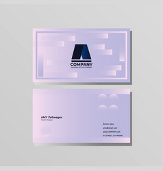 simple creative business card and name card vector image