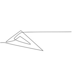 single continuous line drawing plastic vector image