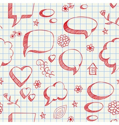 speech bubbles sketch seamless vector image