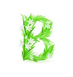 spring flowers alphabet b vector image