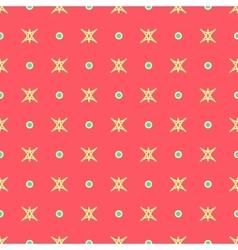 Star and polka dot geometric seamless pattern 40 vector image