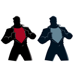 superhero under cover casual silhouette vector image