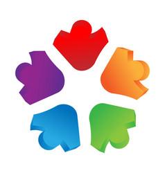 teamwork people circle group icon logo vector image