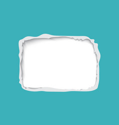 torn paper frame for text vector image