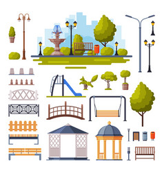 urban infrastructure design elements collection vector image