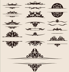 vintage-element-and-border-set vector image