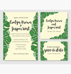 Wedding invite invitation rsvp thank you card vector