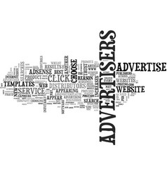 Why advertisers support adsense text word cloud vector