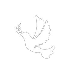 world dove peace vector image