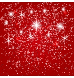 abstract red winter background vector image vector image