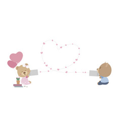 love and valentines day concept vector image vector image
