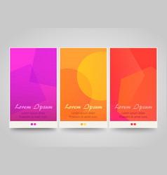modern colorful vertical banners vector image