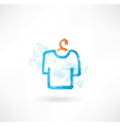 t-shirt grunge icon vector image