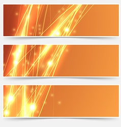 Bright swoosh speed line abstract header set vector image