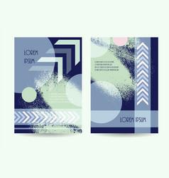 business brochure green blue color design vector image