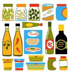Colorful food composition vector image