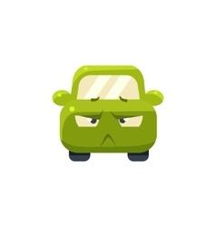 Doubtful Green Car Emoji vector image