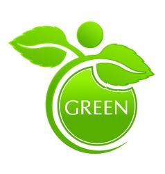 Plant seal logo vector image vector image