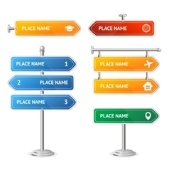 Road and Street Sign Set vector image