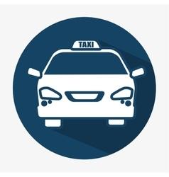 taxi car transport public shadow icon vector image