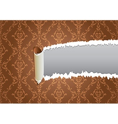 Torn wallpaper frame vector image