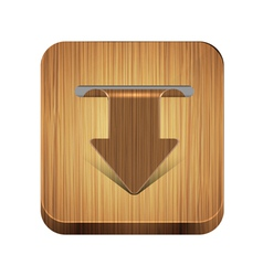 wooden arrow vector image