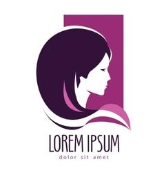 beauty salon logo design template hairdressing vector image