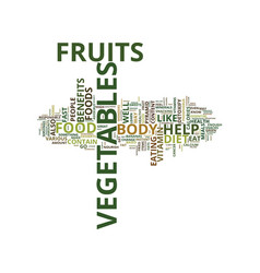 enrich your diet with fruits and vegetables text vector image vector image