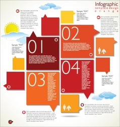Modern orange design template vector image