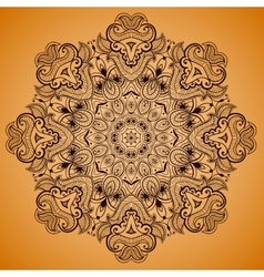 Ornamental round lace pattern is like mandala 2 vector image vector image