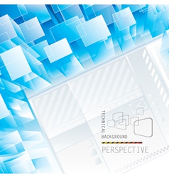 Perspective Tech Background vector image