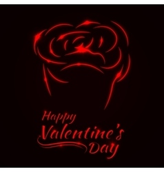 Valentines day rose card vector image vector image