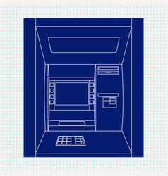 atm bank machine automated teller machine vector image vector image
