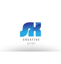 blue gradient sx s x alphabet letter logo vector image vector image