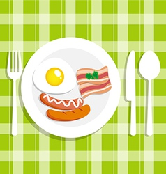 Breakfast food with egg vector image