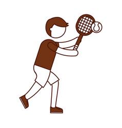 ethlete practicing tennis avatar vector image vector image