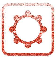 Gear framed textured icon vector