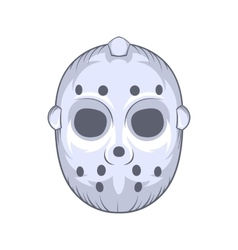 Hockey goalie mask icon cartoon style vector image vector image