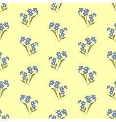 Wallpaper with forget-me-not vector