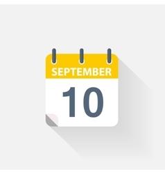 10 september calendar icon vector