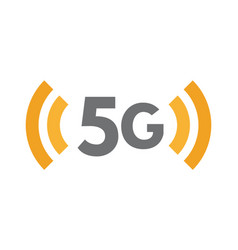5g network technology icon fifth generation vector