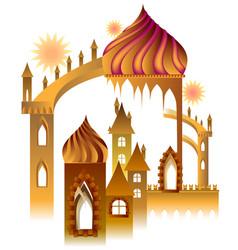 A fairyland fantasy palace cartoon image vector