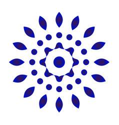 Abstract flower blue and white vector