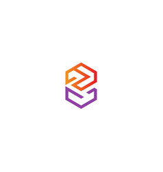 Abstract geometry line colored logo vector